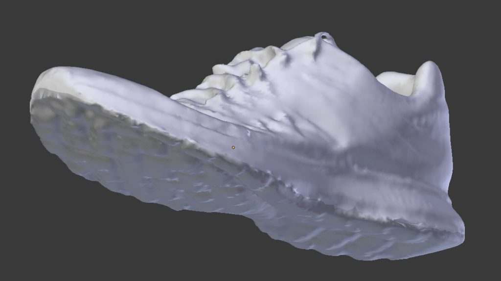 Chaussure sur Blender 1