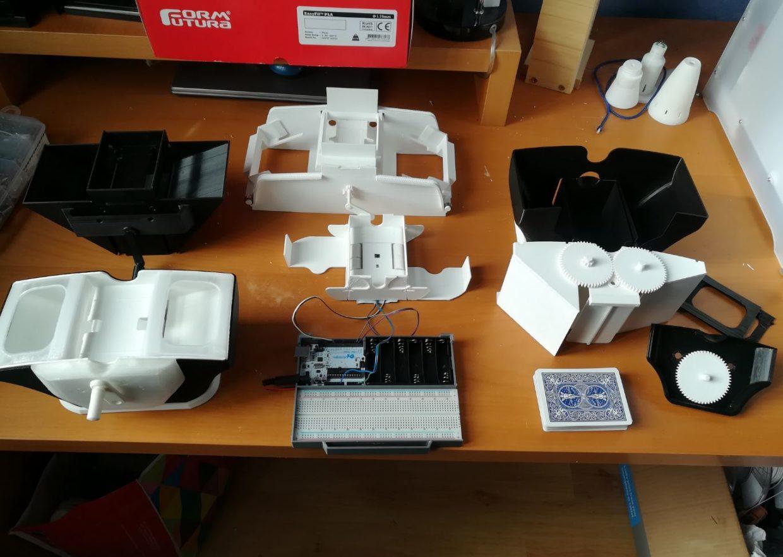 Prototypes mélangeurs de cartes impression 3D