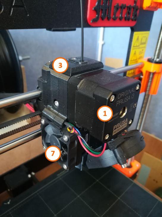 1 Tête extrusion imprimante 3D Prusa
