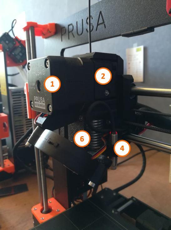 2 Tête extrusion imprimante 3D Prusa