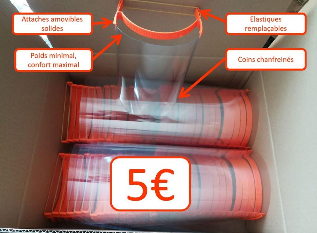 Visières Covid 3D impression 3D