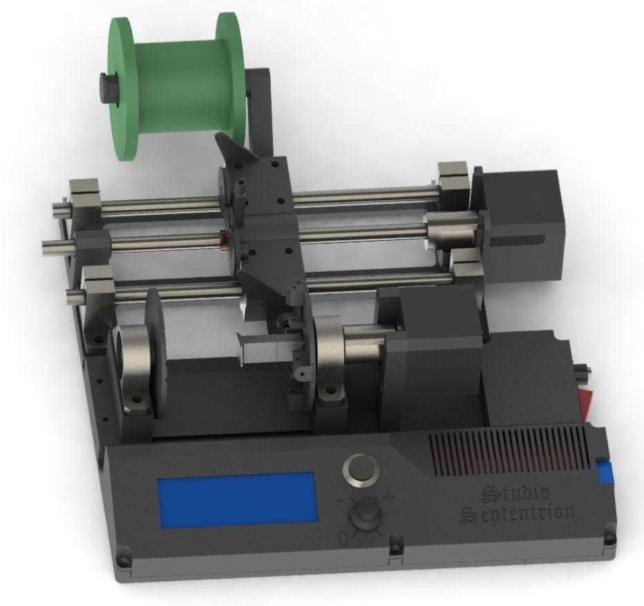 Modèle 3D prototypes machine à bobiner