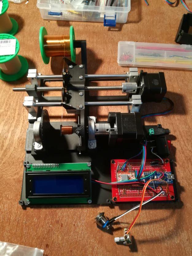 Machine à bobiner - interieur de prototypes